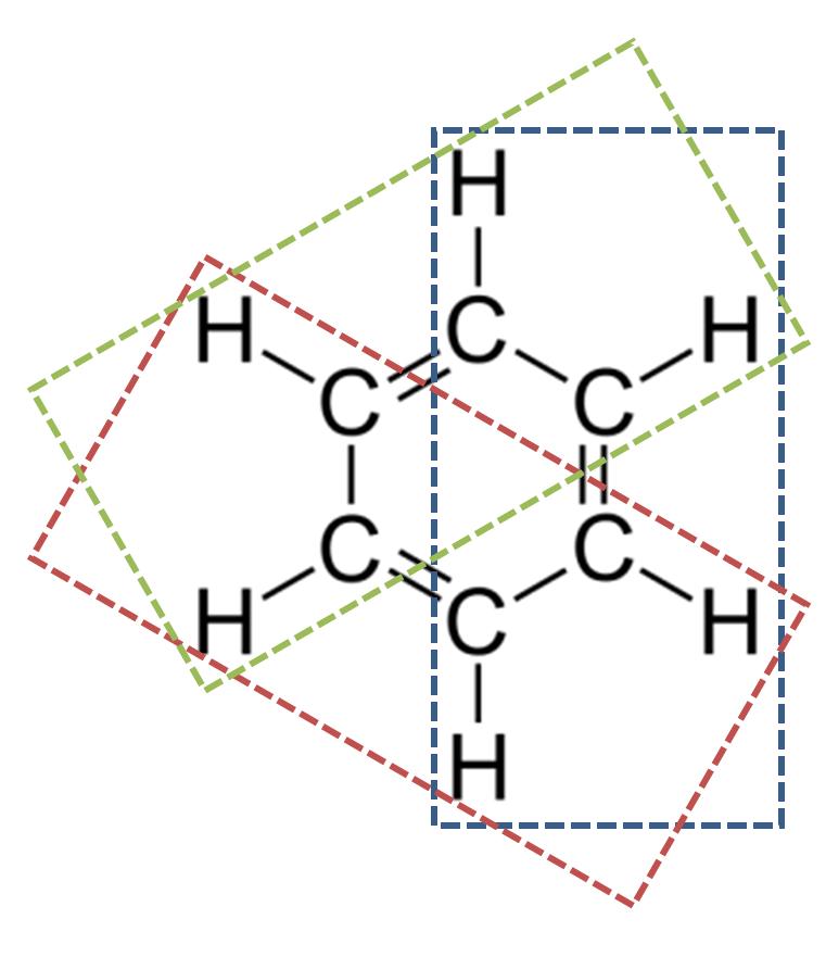 ベンゼンの平面構造