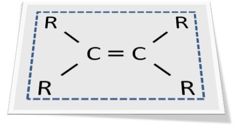 エチレンの平面構造